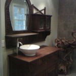 Custom vanity and sink project completed by home remodeling company Hedrick Creative Building, LLC in Lexington, NC